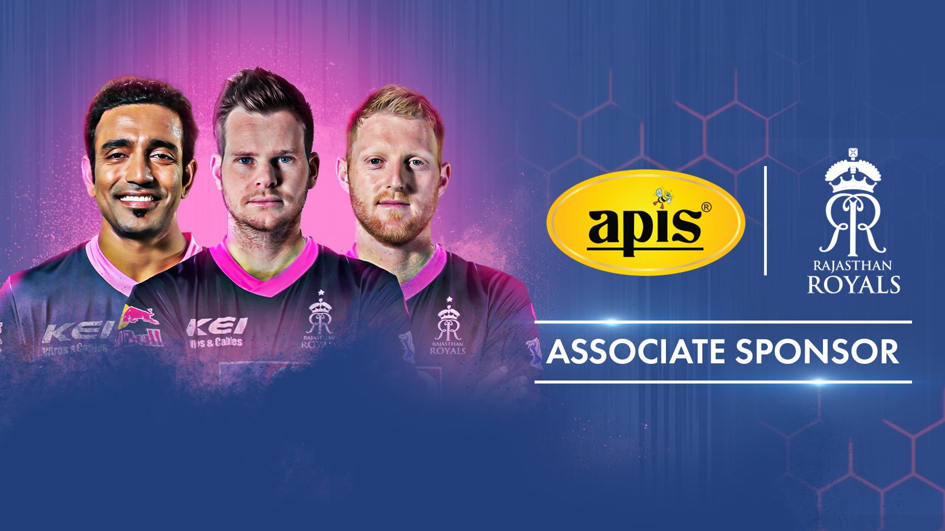 APIS Honey announces partnership with Rajasthan Royals for upcoming IPL 2020.